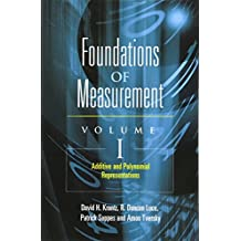 Foundations of Measurement: Additive and Polynomial Representations
