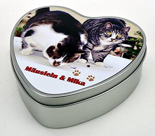bedruckte Geschenkdose Herz aus Metall - Motiv 11 (eigenes Foto) mit Ihrem Wunschfoto und Wunschtext