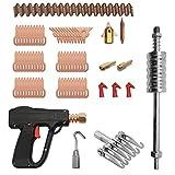 KKmoon - Kit de herramientas de reparación de abolladuras para auto, electrodos de soldadura, máquina de soldar, dispositivo de eliminación de abolladuras