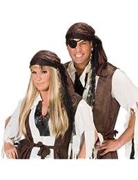 Kopftuch Pirat, Wildlederoptik, braun