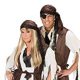 PARTY DISCOUNT Kopftuch Pirat, Wildlederoptik, braun