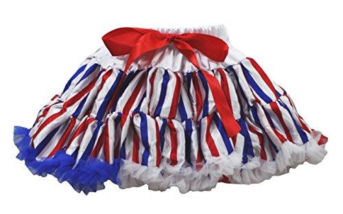 Kleid Stripe Kostüm Blue - America Dress Red White Blue Stripe Pettiskirt Skirt Girl Clothing 1-8y (6-8 Jahr)