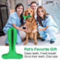 Dog Toothbrush, Dog Tooth Cleaning, Dog Dental Stick, Reuse Chew Toy for Dogs Non-Toxic Natural Rubber, Durable Bite Resistant, Teeth Cleaning Chew Toys for Medium and Large Pets Oral Dental Care