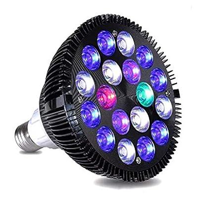 Plante D'intérieur LED, Croissance Lampe D'aquarium Corail Éclairage Couramment Utilisé Ampoule 54W Grande Puissance