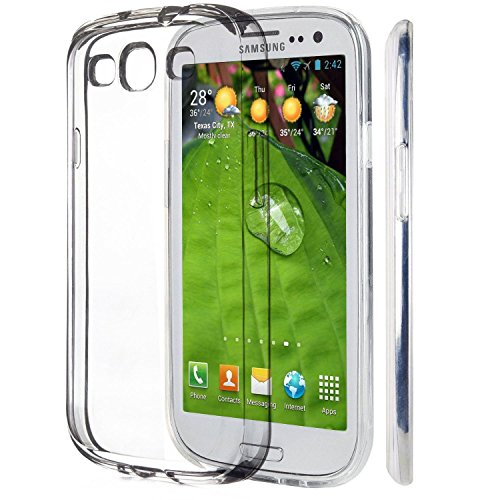 Samsung Galaxy S3 / S3 Neo Custodia, iVoler® Soft TPU Silicone Case Cover Bumper Caso,[Cristallo Chiaro] [Estremamente Sottile] [Semi Transparente] [Shock-Absorption e Anti-Scratch] Slim Anti Slip Case Protector Cover per Samsung Galaxy S3/S3 Neo (Crystal Clear)- 18 Mesi di