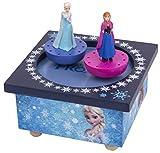 Trousselier S95430 Tanzende Ana und Elsa, FROZEN Holz Spieldose