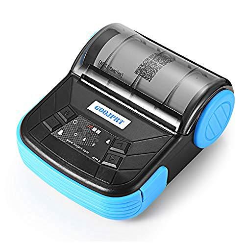 WSMLA Direkter Thermodrucker 80 mm Bluetooth-Drucker Thermodrucker Portable Version mit Akku