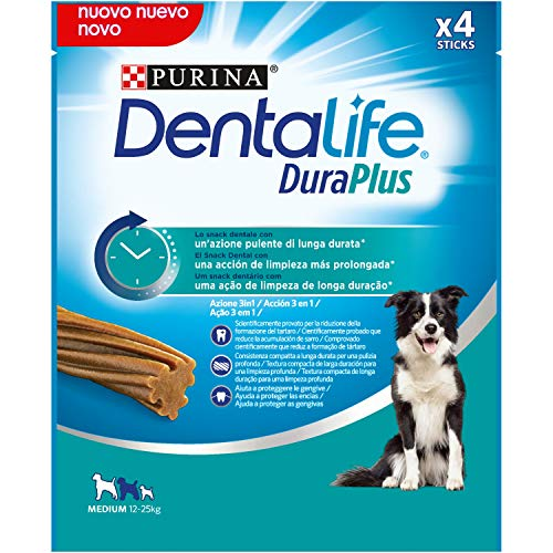Purina Dentalife Snack Dental para Perro Mediano DuraPlus Medium 5 x 197g - 5 Stick