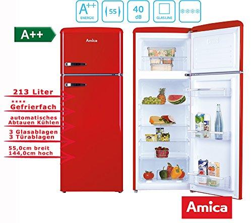 Amica KGC15630R nevera y congelador Independiente Rojo A++ - Frigorífico (ST, 40 dB, 2,5 kg/24h, A++, Rojo)