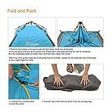 Mountaintop Trekkingzelt Zelt Minipack,Automatische Tunnelzelt Familienzelt Campingzelt für 2-3 Personen -