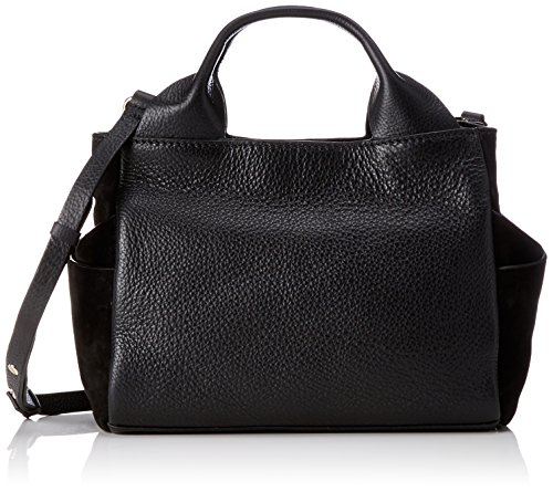 Clarks Damen Talara Wish Henkeltasche, Schwarz (Black Leather), 13x20x32 cm