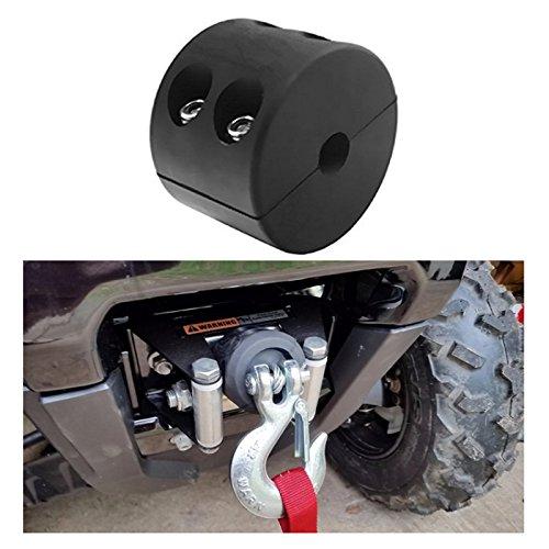 Reusious Gummiwinde Kabel Haken Stopper für ATV UTV, schwarz Heavy Duty Line Saver mit Inbusschlüssel