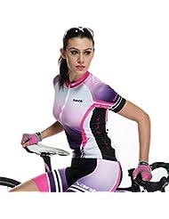 Las mujeres Santic verano manga corta ciclismo camiseta y pantalones cortos de bicicleta traje S a XL, mujer, color , tamaño XL