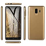 Prevently Android Dual-SIM Smartphone(5,7 Zoll) Touch-Display, 6.0 IPS VOLLBILD GSM/WCDMA Touchscreen WiFi Bluetooth GPS 2G Anruf Handy (Gold)