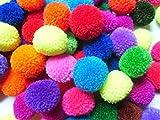 #7: Rasmy Home Decors 20mm Yarn POM POM 100pcs