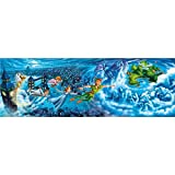 Clementoni 39448–Disney Panorama Collection Peter Pan Puzzle Night Flights, 1000unidades)