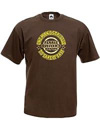 Pop Art Products Ferris Bueller T-Shirt One Man`s Struggle tee shirt apparel retro movie gift merchandise