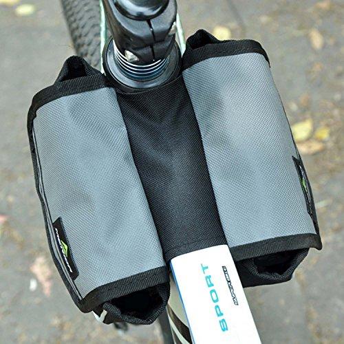 Wasserdichte Bergstraße Fahrradhecktasche Satteltasche, groß für Außen Liebhaber Grau