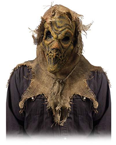 Horror-Shop Dämonische Feldvogelscheuche Maske Beige