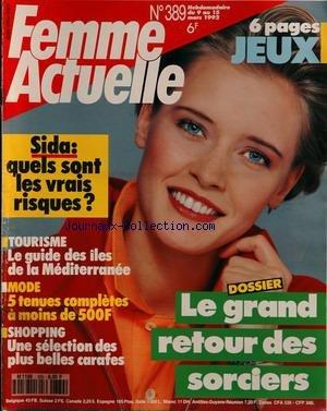 FEMME ACTUELLE [No 389] du 09/03/1992