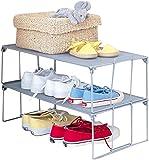 1 x Mesh Stacking Shoe Storage Shelf
