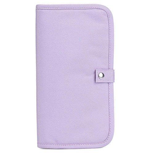 BRG315 Multifunktionale Dokumente Paket Pass Pass Fahrer Beutel Schwimmbeutel, Um Die Wasserdichte Karte Paket Brieftasche Ticket Paket Zu Akzeptieren Purple