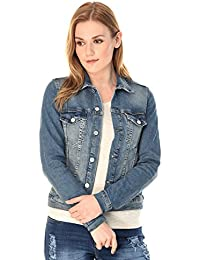 MansiCollections Blue Denim Jacket for Women