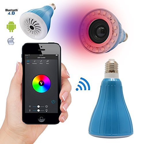 DMG USMART Bluetooth LED Light Bulb Smartphone Controlled Dimmable Multicolored Color Changing LED Lights Music Speaker - Smart LED Light Bulbs for Home, Office, Parties, Dinners