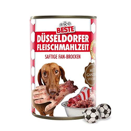Preisvergleich Produktbild Hundefutter - Düsseldorfer Fleischmahlzeit - Bayern-,  Dortmund- und alle Fußball-Fans aufgepasst. Witziges Geschenk für Freunde,  Kollegen,  Geburtstage und Partys zum Verschenken und Verfüttern - Futtermittel,  Futter,  Hundenahrung,  Alleinfuttermittel für ausgewachsene Hunde