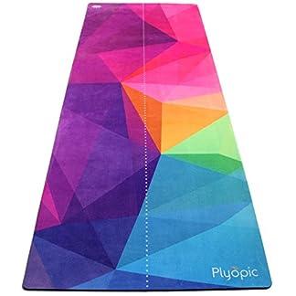Plyopic Esterilla de Yoga   Antideslizante Colchoneta/Toalla Natural y Ecológica   Ideal para Yoga, Pilates, Ejercicio, Fitness, Hot o Bikram