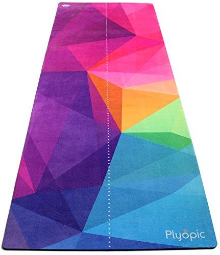 Plyopic All-In-One Yogamatte | Luxus Studio Matte/Yogatuch Combo | Schweiß-Rutschfest, Umweltfreundlich Naturkautschuk | Perfekt für Hot Yoga, Bikram, Ashtanga, Pilates, Fitness und HIIT (Mehrfarben)