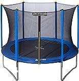 Ultrasport Kinder Gartentrampolin Uni-Jump inkl. Sicherheitsnetz, Blau, 244 cm, 331300000225