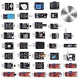 MAKEASY 37 in 1 Arduino Sensor Kit mit CD-Tutorialaufgerüsteter Sensormodul Bausatz mit Anleitung Arduino Zubehör Raspberry Pi für Anfänger und DIY-Profis