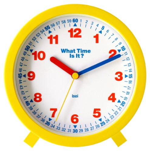 Bai What-Time-Is-It Learning Clock - Clock Radio Atomic Digitale