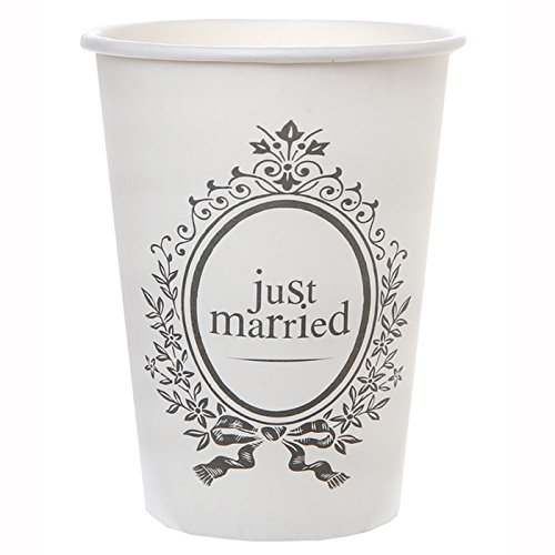 Kostüm Becher (NEU Becher Just Married, weiß, 10)