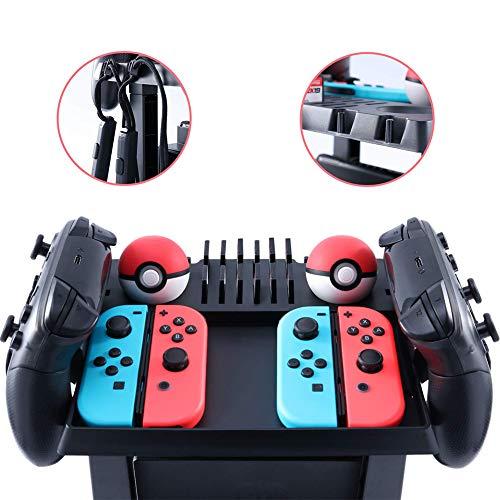 Multifunktions-Speicher-Gestell für Nintendo-Schalter-Zusätze, Prüfer-Stations-Halter-Stützspiel-Versorgungsmaterialien -