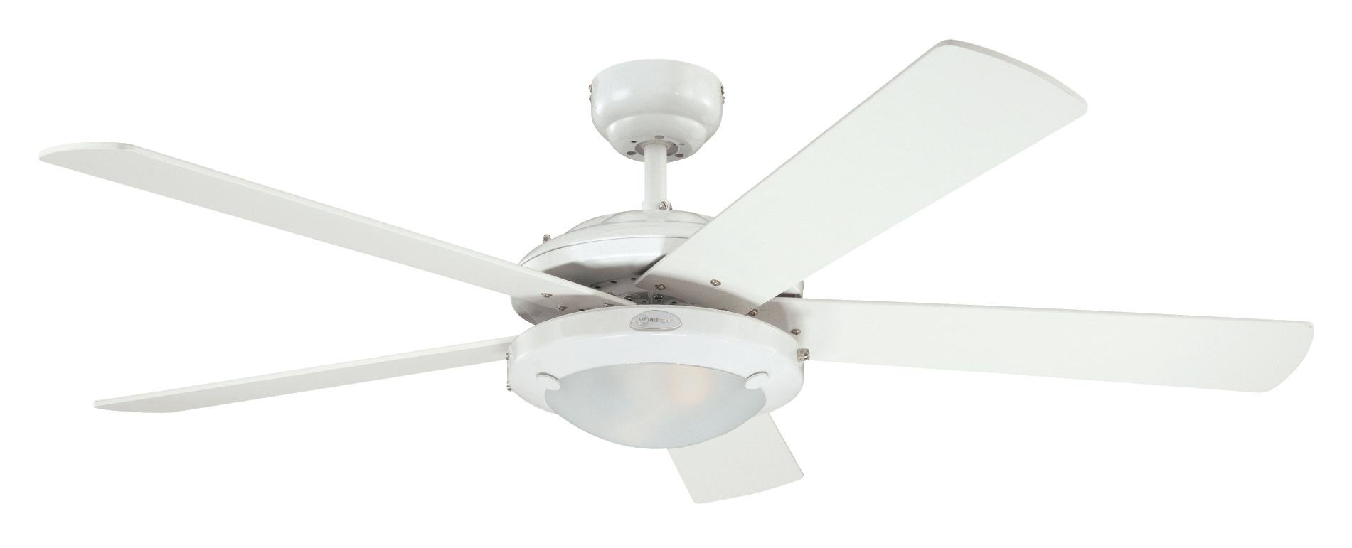 51yzQPEwcML - Westinghouse Ceiling Fans 78017 Comet One-Light 132 cm Five Indoor Ceiling Fan, Frosted Glass, White Finish with…