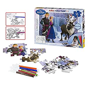 Disney Frozen - Puzzle coloreable, 35 Piezas (Color Baby 42110)