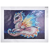 Aobuang Animal Series DIY speciale a forma di diamante pittura – Kit punto croce 5D parziale drill Arts Craft Home Wall Decor Gift Dragon 30X40cm