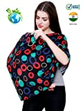 #10: Feather Hug 360 Nursing Cover for Breastfeeding mother, women, Mom, Multi Use, Feeding Cloak,Poncho, scarf, ups, Wrap, Breathable, Canopy, Babysitting, Maternity, Kurti, Shawl, Apron, Poplin (Black Rings)