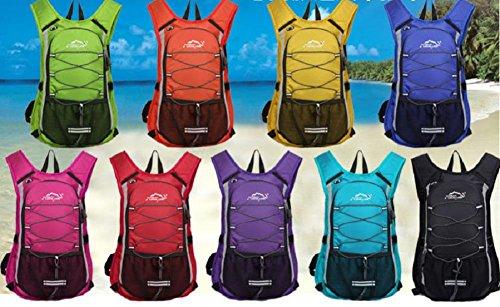 Outdoor-Reiten Tasche Rucksack tragbaren Wassersack im freien Männern und Frauen Reisetaschen Black