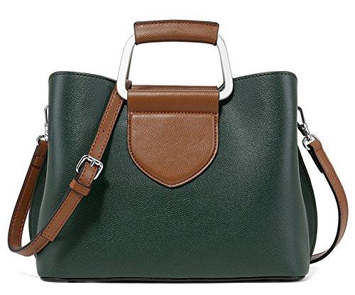 XinMaoYuan Farbe Shell Handtaschen Handtaschen aus Leder im Herbst und Winter Casual Messenger Bag Schulter Grün