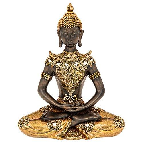 Golden Buda sentado grande–27x 21cm