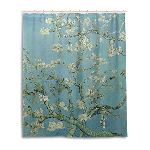 52,4 x 182,9 cm, Motiv: Mandelblüten, das Meisterwerk von Van Gogh, Ölgemälde, schimmelresistenter Polyesterstoff für das Badezimmer ()