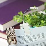 BLAU FÜNF Portable Flexible Neck Solar Clip Light (White)