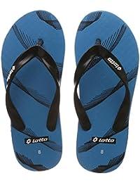Lotto Men's Light Blue/Black Hawaii House Slippers