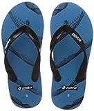 #8: Lotto Men's Light Blue/Black Hawaii House Slippers