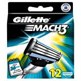 Ancienne version Gillette  MACH3 - Pack de 12 recharges