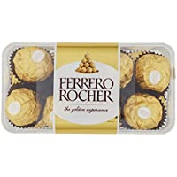 Ferrero Rocher - Bombones Praliné de Chocolate (16 unidades) 200 g