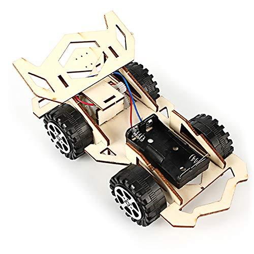 Hylotele Holzauto, Holz Rennwagen DIY Kit Kinder Spielzeug Elektrische Holz Rennwagen für Kinder Wissenschaft und Technologie Erfindungen Montiert Experiment DIY Modellbau Kits (Technologie-tool-kit)